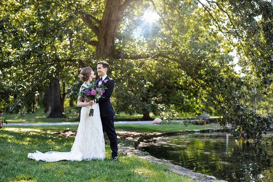 Spring Grove wedding portraits in the fall in Cincinnati oh