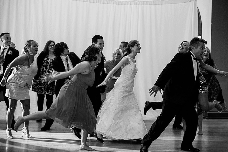 flash mob at a wedding