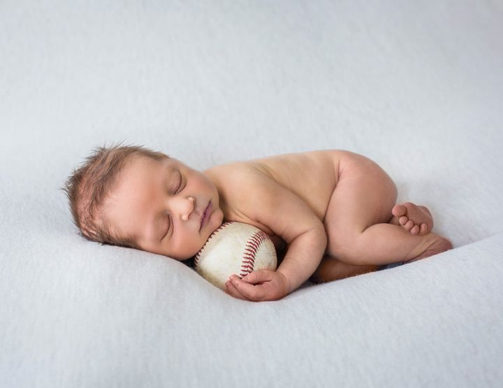Play Ball, Cincinnati Newborn Photographer